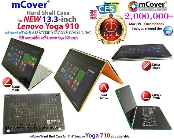 mCover Ligero Funda Dura Lenovo Yoga 910 13,9 Pulgadas portátil - Azul