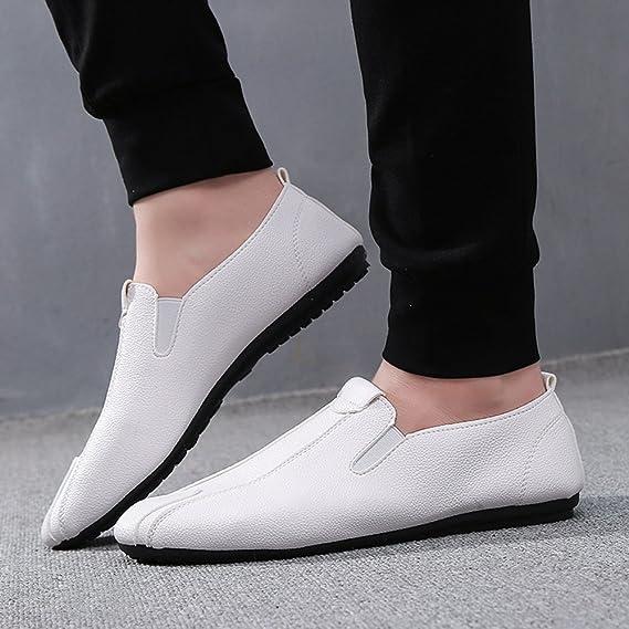 XUE 2018 Nouveau Hommes Chaussures Artificielle PU Printemps Été Confort Sneakers Chaussures de Marche pour Mocassins Occasionnels et Slip-Ons en Cuir en Plein Air (Couleur : Rouge, Taille : 41)