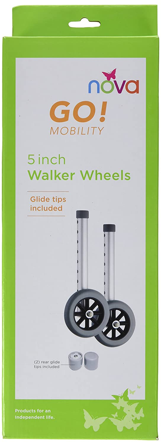 Amazon.com: NOVA Medical Products 410si Wheels for 4070/4090, Silver/black, 5 Inch: Health & Personal Care