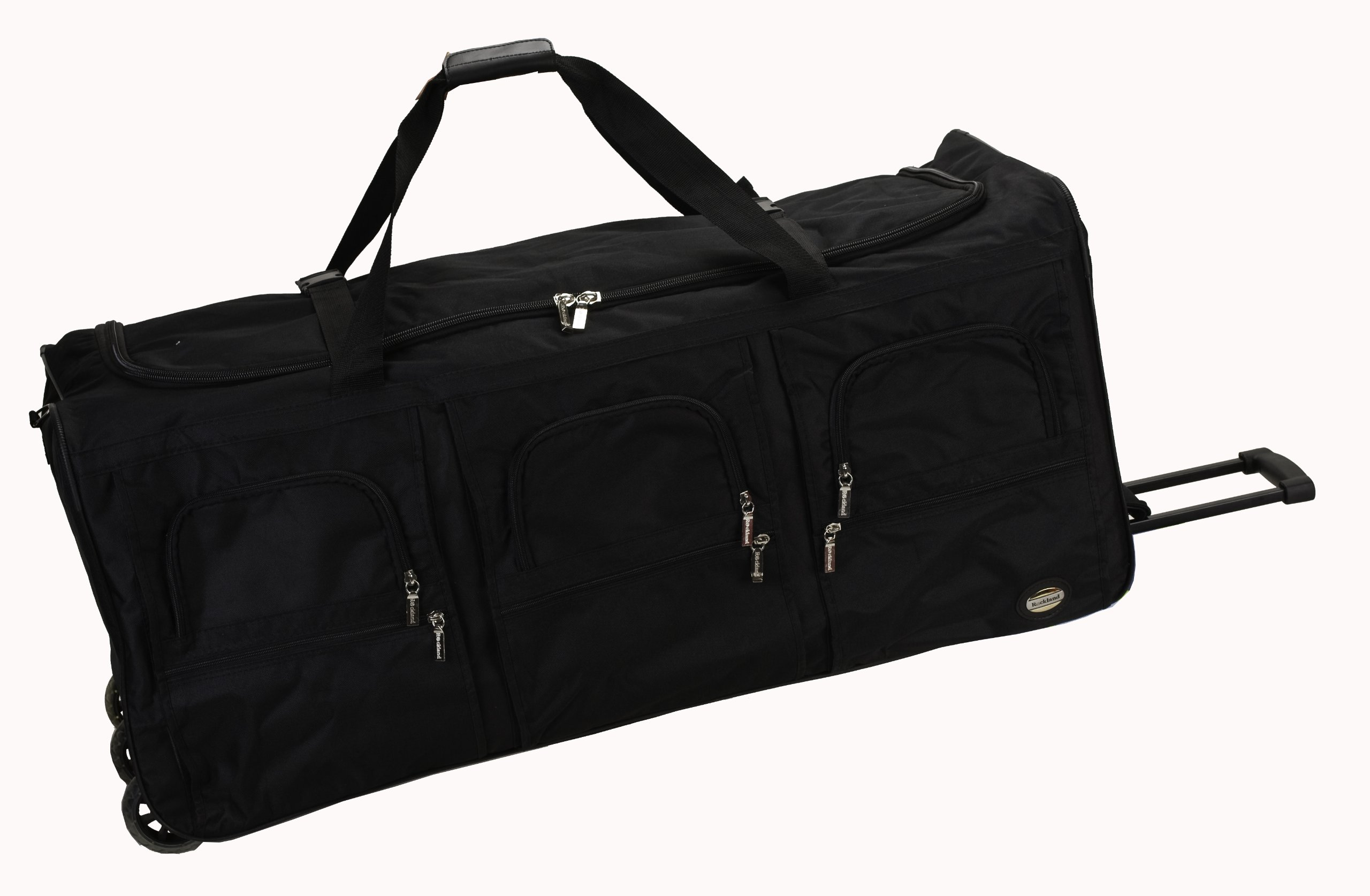 Rockland Luggage 40 Inch Rolling Duffle Bag, Black, X-Large by Rockland