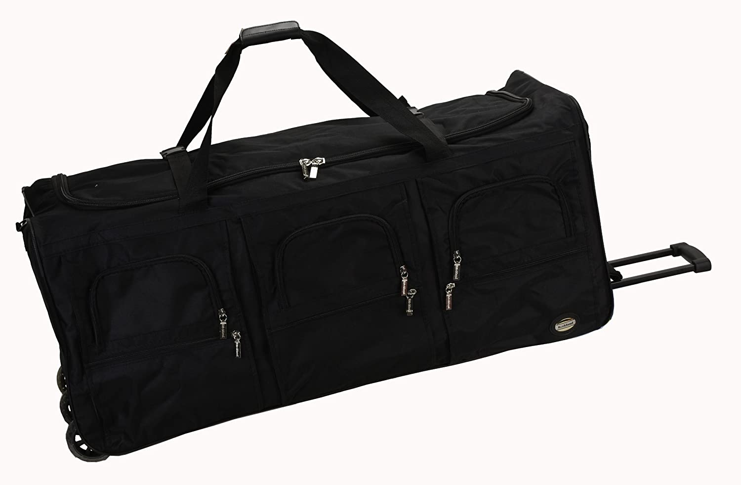 Amazon.com | Rockland Luggage 40 Inch Rolling Duffle Bag, Black, X ...