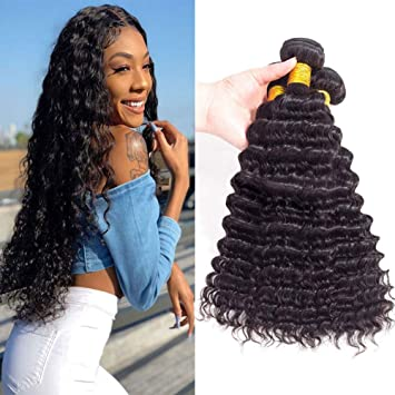 Upretty Hair Peruvian Straight Hair Bundles Mink Human Hair Extensions Remy Hair Weave Bundles 4 Bundle Deals 10-30 Inch Wide Varieties Human Hair Weaves