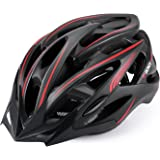 Gonex Adult Cycling Bike Helmet for Men Women, Lightweight Road Bicycle Helmet CPSC Certified (Black&Red)