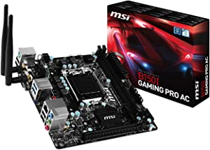 MSI Gaming Intel Skylake B150 LGA 1151 DDR4 USB 3.1 Mini ITX Motherboard (B150I Gaming Pro AC)