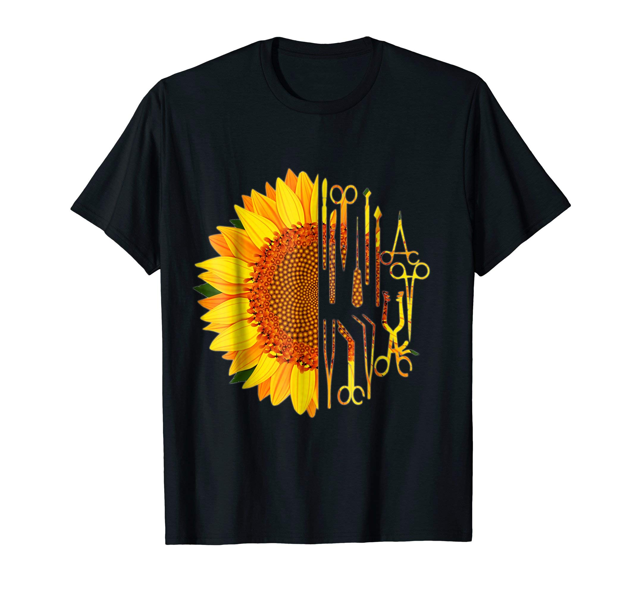 Surgical Scrub Tech Surgeon T-Shirt Sunflower Surgery Intern by Scrub Tech Smitten by Kristin