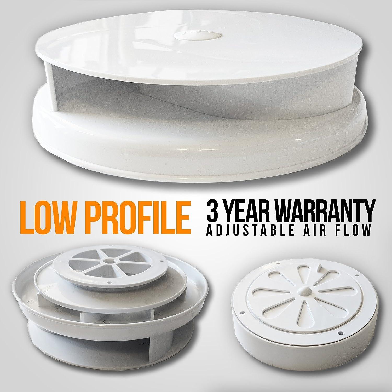 AVT - Ventilador para techo de furgoneta, color blanco: Amazon.es ...