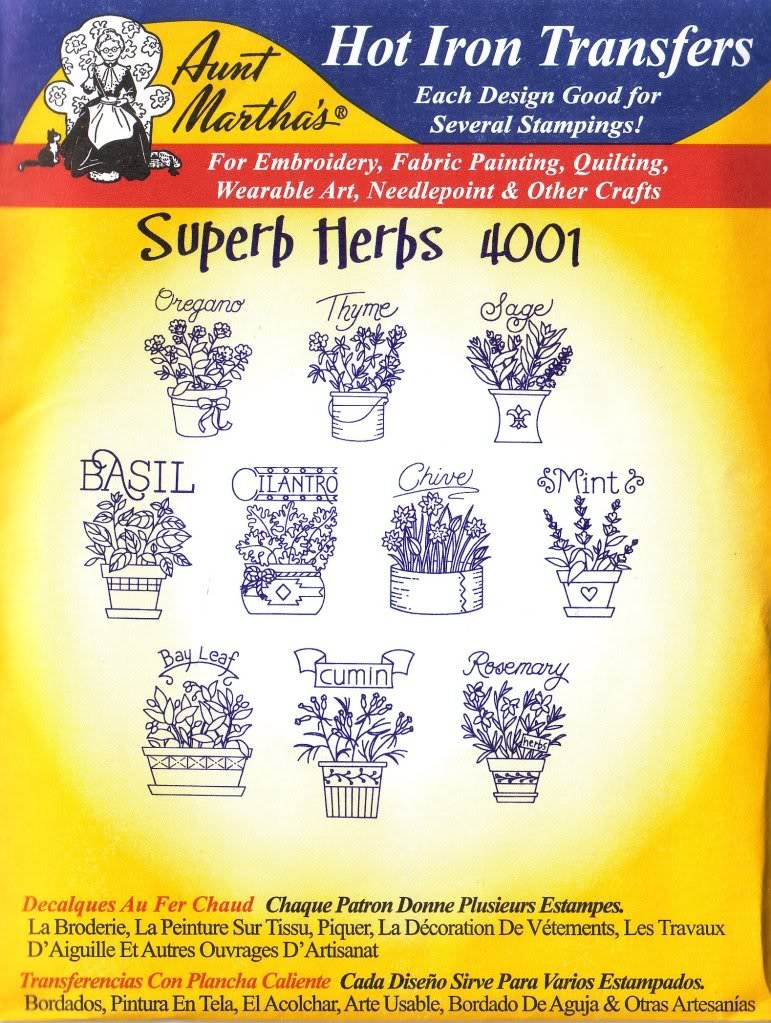 Amazon.com: Superb Herbs Aunt Martha\'s Hot Iron Embroidery Transfer