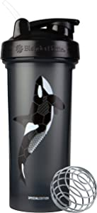 BlenderBottle Ocean Animals Classic Shaker Bottle Perfect for Protein Shakes and Pre Workout, 28-Ounce Orca