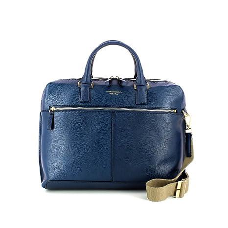 72426ac2437948 Piquadro Cartella a due manici porta pc con porta iPad® imbottito Archimede  blu