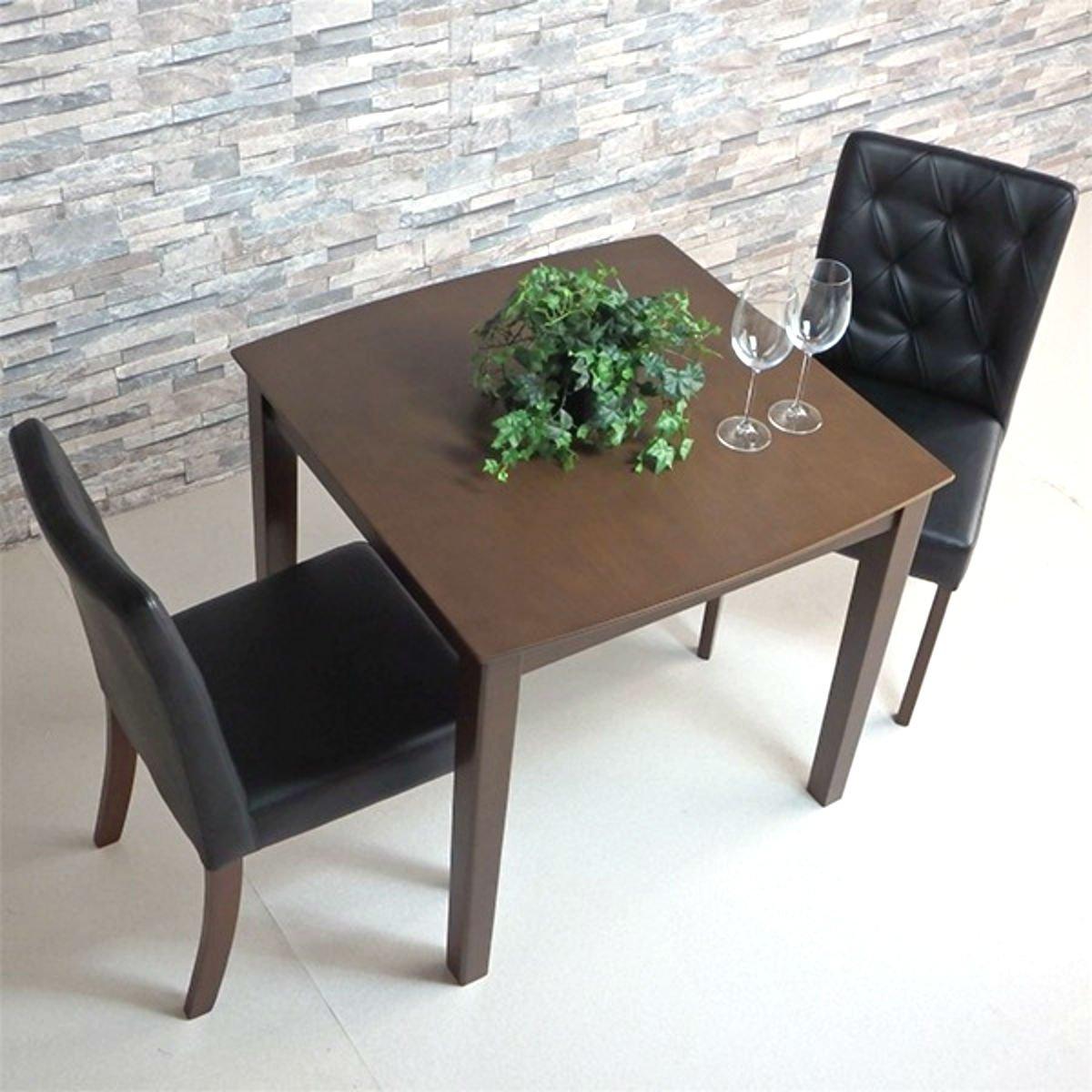 ダイニングテーブルセット 2人用 3点セット 75cm幅 アポロン ブラック ホワイト ((黒)3点セット) B07CSQC9VY (黒)3点セット (黒)3点セット
