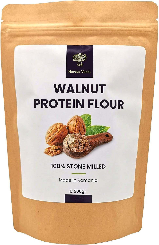Nuez de proteína de nuez 16.9 onzas – 100% natural – origen de la UE – vegano crudo – 50% proteína – libre de gluten – alta proteína