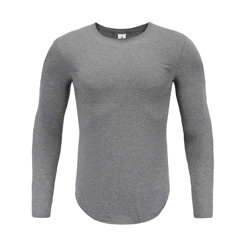 refulgence Mens Casual Long Sleeve Crew Neck Sweatshirt T-Shirt Top Best Seller