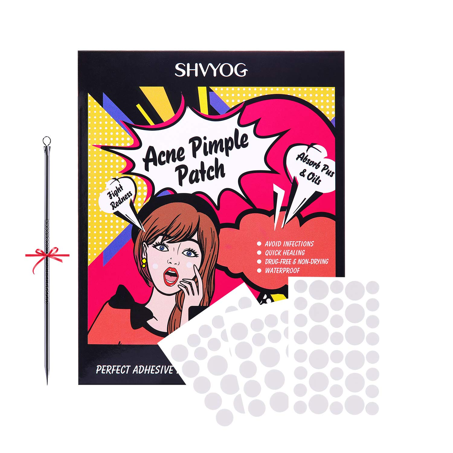 Acne Patch, SHVYOG Acne Pimple Master Patch Acne Spot Treatment Dot Absorbing Cover, Acne Spot Stickers Blemish Patch Hydrocolloid Acne Cover Patch (3 Packs / 84 Patches) by SHVYOG