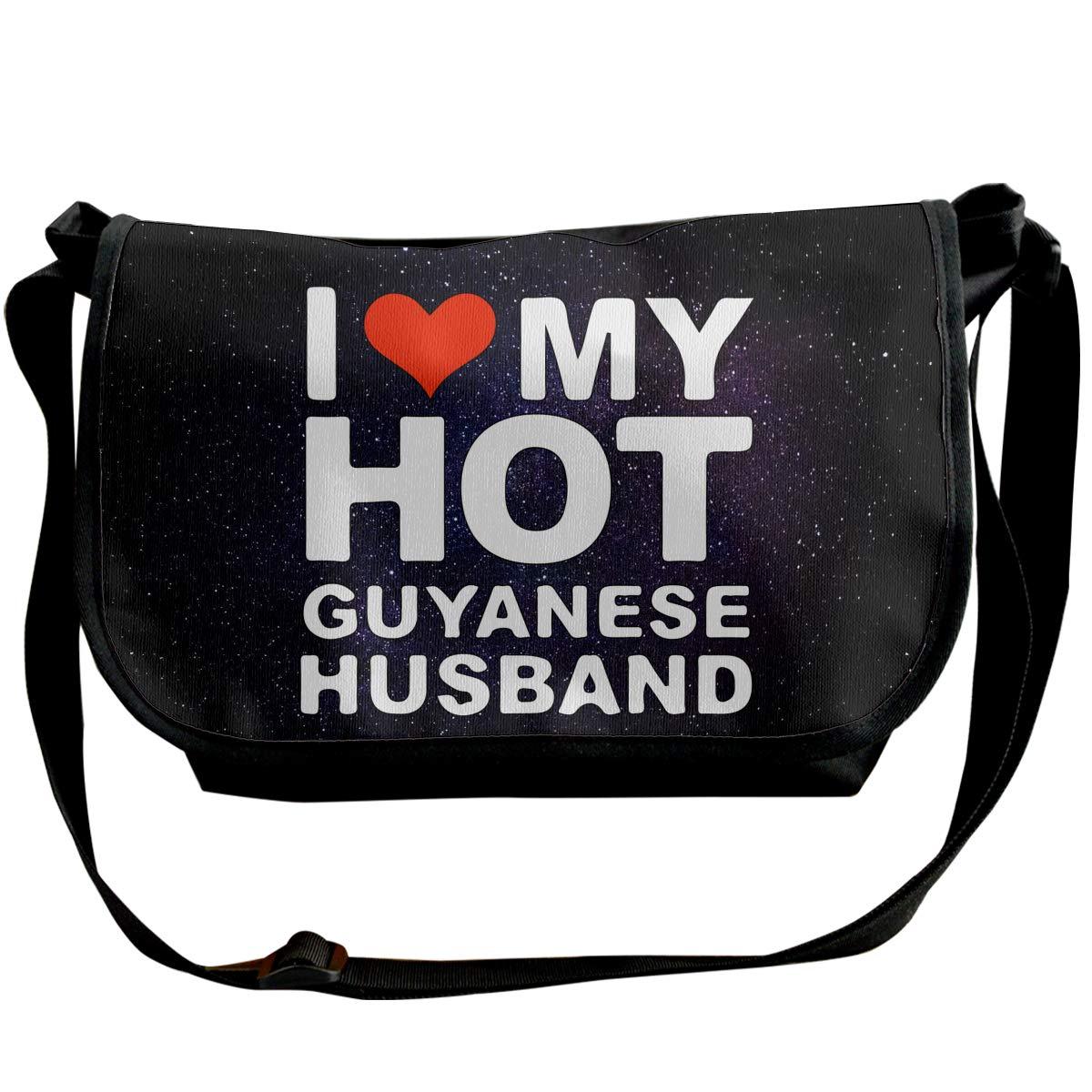 I LOVE MY HOT Guyanese Husband Unisex Sling Shoulder Bag Personalized Travel Bag