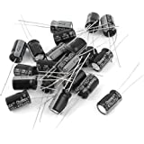 uxcell 20Pcs 25V 470uF Radial Leads Cylindrical Electrolytic Capacitor 8x12mm