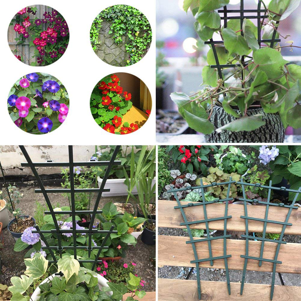 RTWAY Climbing Plants Support 6-Pack DIY Garden Plant Pot Mini Climbing Trellis Plant Support Grow Cages for Climbing Plants and Vine