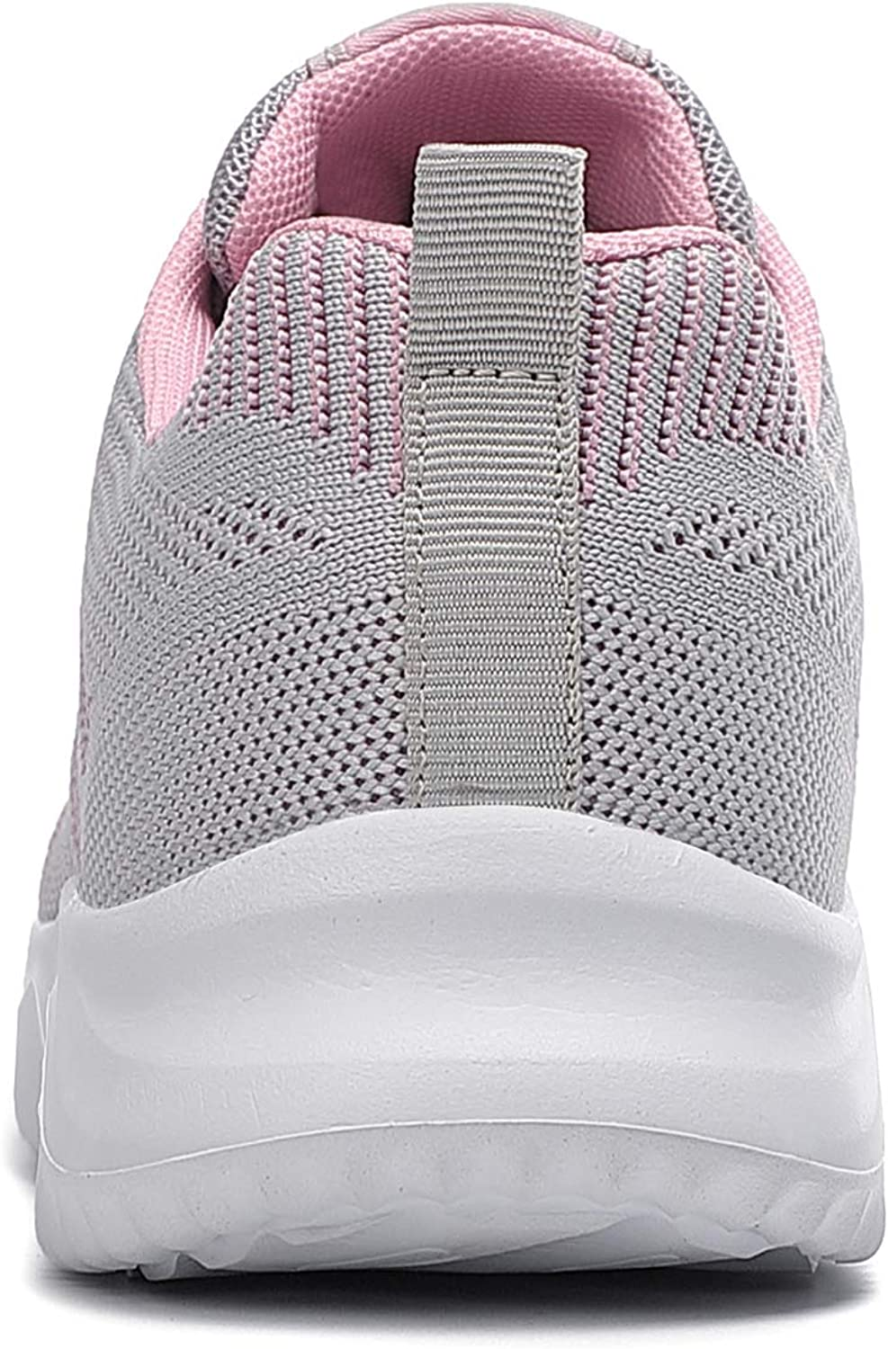 TAIZHOU Femme Chaussures de Sport Lacets Fitness Confortable Basses Basquettes Chaussure Running Grayish Pink