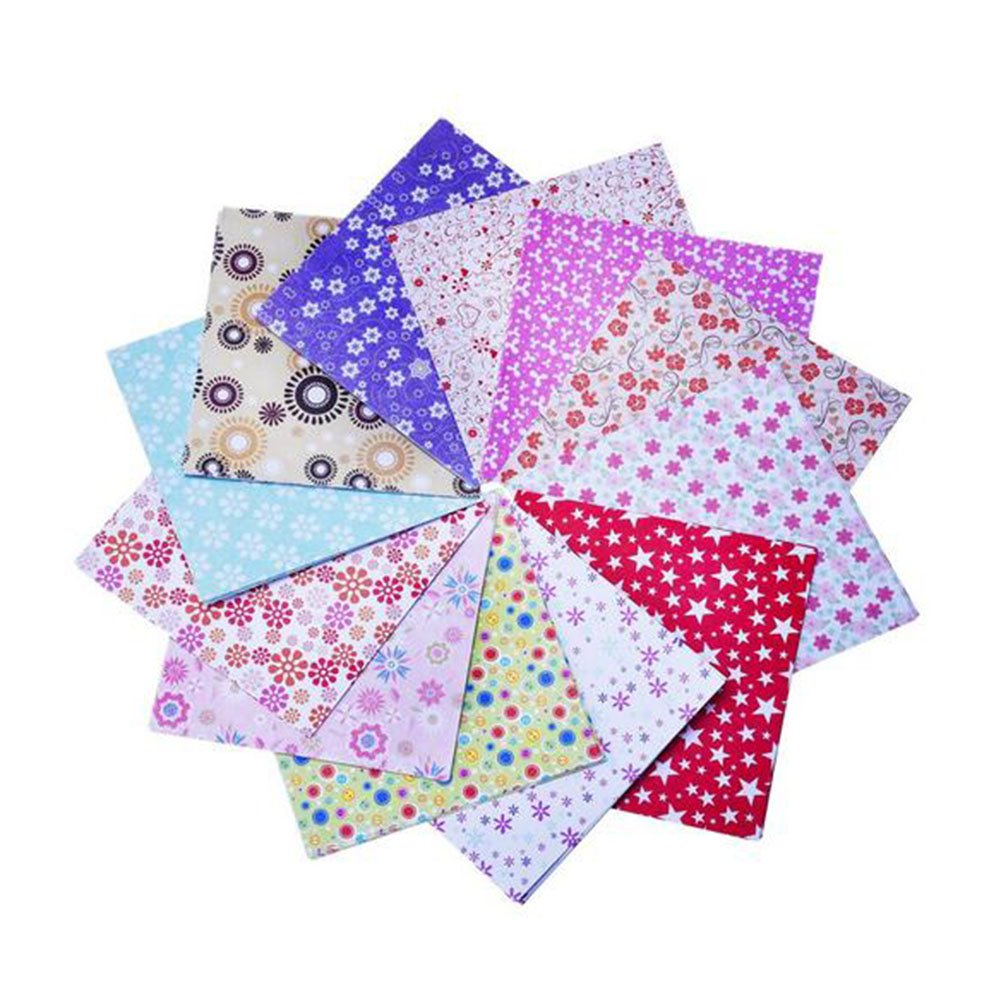 Gespout - Set da 72fogli quadrati per origami, in 12colori a doppio lato, adatti per lavoretti artigianali di fai-da-te e per realizzare origami, dimensioni 15x 15cm