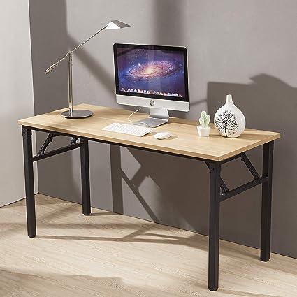 Fantastic Cuboc 59 Large Size Modern Computer Desk Long Office Desk Writing Desk Workstation Table For Home Office Beech Home Interior And Landscaping Ferensignezvosmurscom