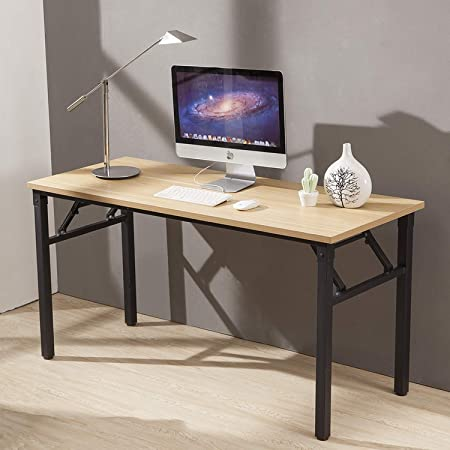 CUBOC 59 Large Size Modern Computer Desk Long Office Desk Writing Desk, Workstation Table for Home Office, Beech
