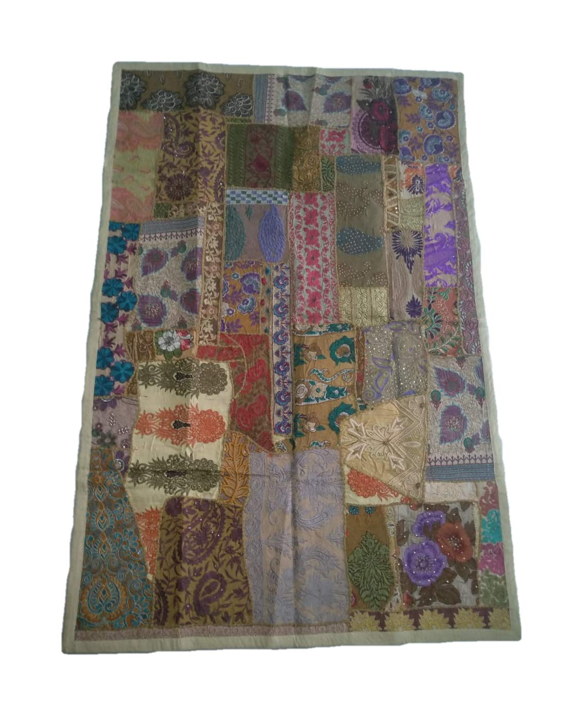 Table Cover Beach Throw Diwan Cover AdhritCreations Patchwork Tapestry for Wall Hanging