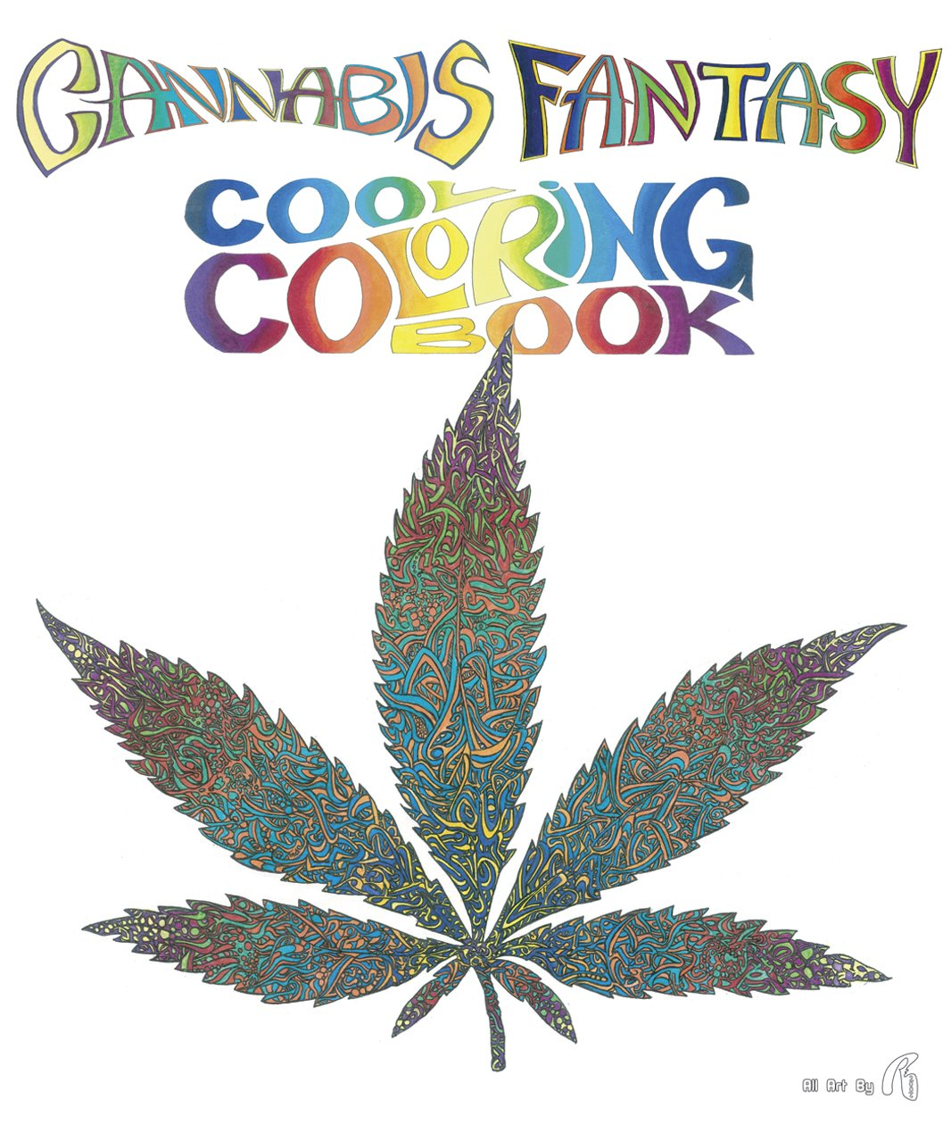 amazoncom cannabis fantasy cool coloring book 9780867197174 re books - Cool Coloring Books