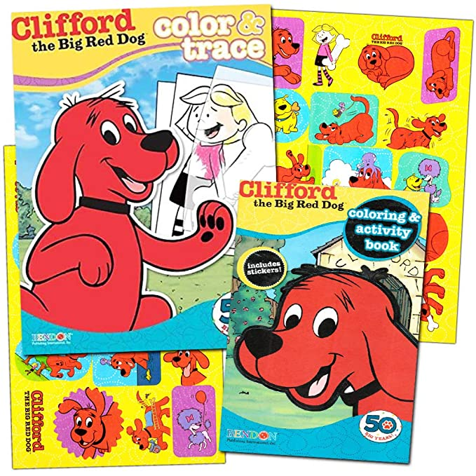 - Buy Clifford The Big Red Dog Coloring Book Super Set 2 Coloring And  Activity Books, 2 Posters And Stickers Online At Low Prices In India -  Amazon.in