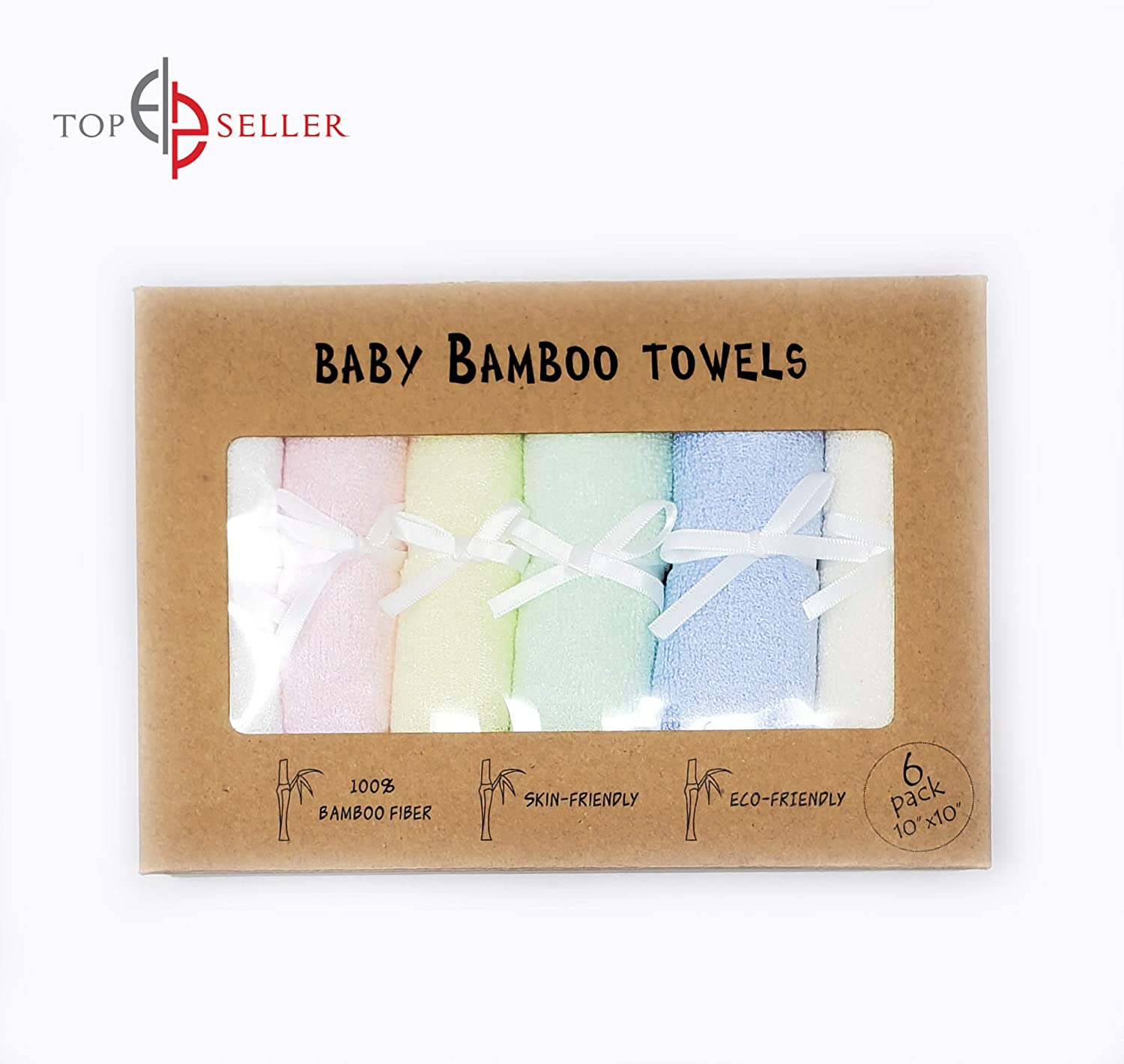 2 Layers of Ultra Luxury /& Soft Absorbent Bamboo Towel Newborn Bath /& Face Towel Natural Reusable Baby Wipes for Sensitive Skin Worlds Best Baby Bamboo Washcloths /& Laundry Bag Set Multi