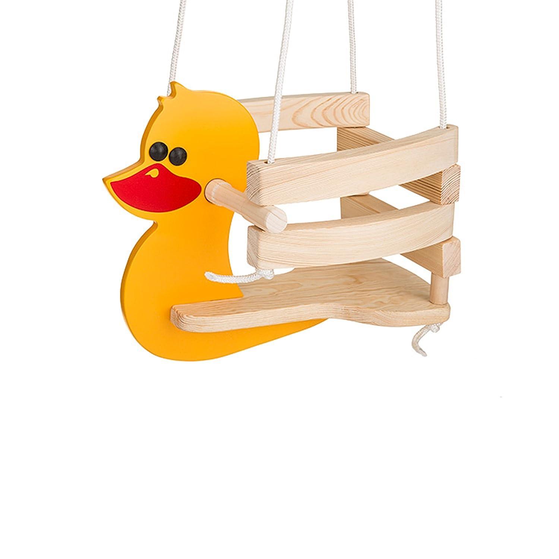 gelb Gepetto HP00 Kinderschaukel Holzschaukel Schaukel f/ür Kinder f/ürs Zimmer KH00
