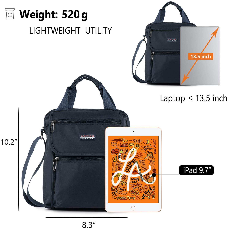 Universell cross-body man väska vardaglig axelväska topphandtag väska extra lång rem surfplatta väska Blue - Medium