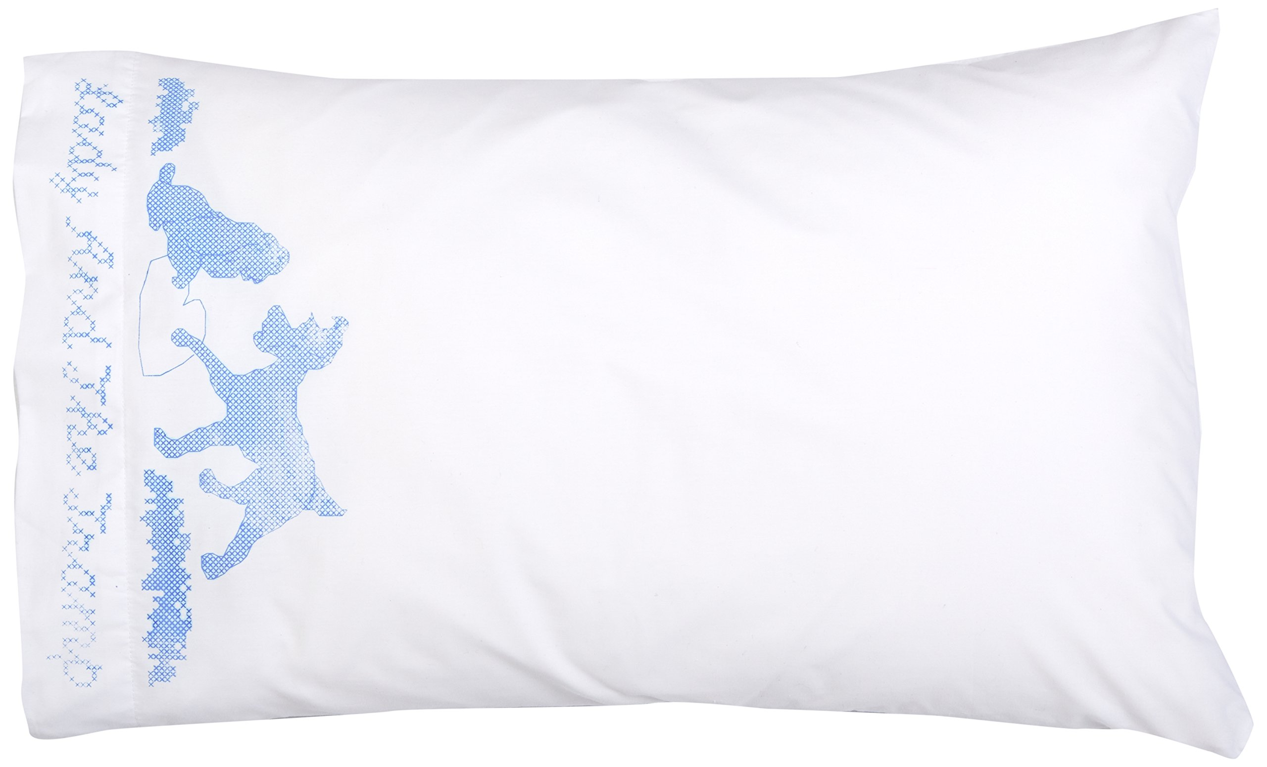 M C G Textiles Disney Dreams Stamped Pillowcase, 20 x 30-Inch, Lady and The Tramp, 2-Pack