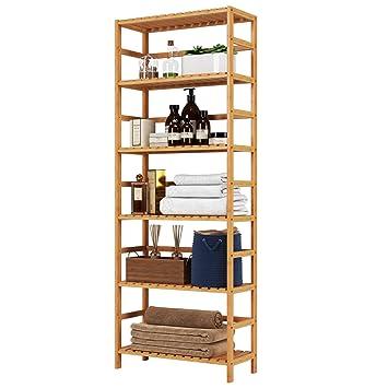 Amazon.com: Homfa Estante de bambú de 6 niveles, 63.4 ...