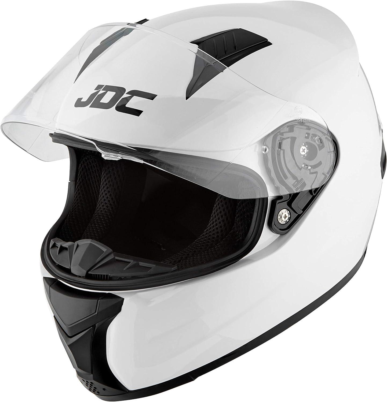 JDC Casco Integral Para Motocicleta Cascosintegrales - PRISM - Blanco - L