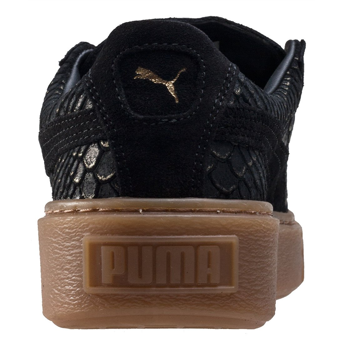 9cf220cb79 Puma Mujer Negro/dorado Basket Exotic Skin Platform Zapatillas: Amazon.es:  Zapatos y complementos
