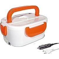 Self Ideas - Fiambrera eléctrica con Capacidad de 1 litro. Calentador de Comida eléctrico con Adaptador para Coche y…