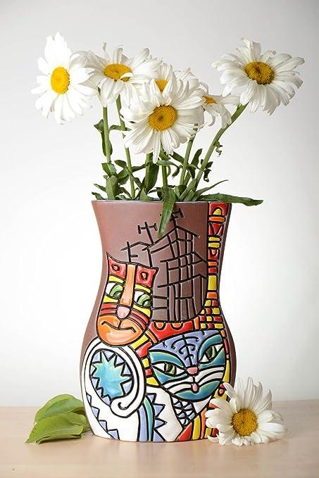 Amazon.com: Unusual Homemade Flower Vase Handmade Ceramic Vase Home on handmade frame, handmade flower pins, handmade flower chandelier, handmade porcelain vases, handmade decorative items, handmade flower jewelry, handmade toys, handmade flower jar, handmade flower tree, handmade flower tea, handmade urns, handmade flower pot, handmade flower wreath, handmade incense burner, red rose bouquet in vase, handmade flower earrings, handmade flower box, handmade lamp, handmade flower bouquet, handmade baskets,