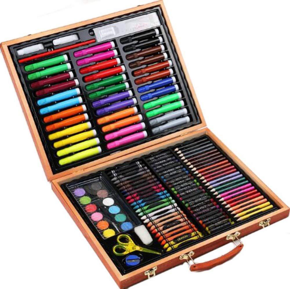 HQYDBB Kids Art Set, 150 Set di pennelli per Bambini, Penna Acquerello, pastelli a Cera, pastelli a Olio, Strumenti artistici di Scuola elementare