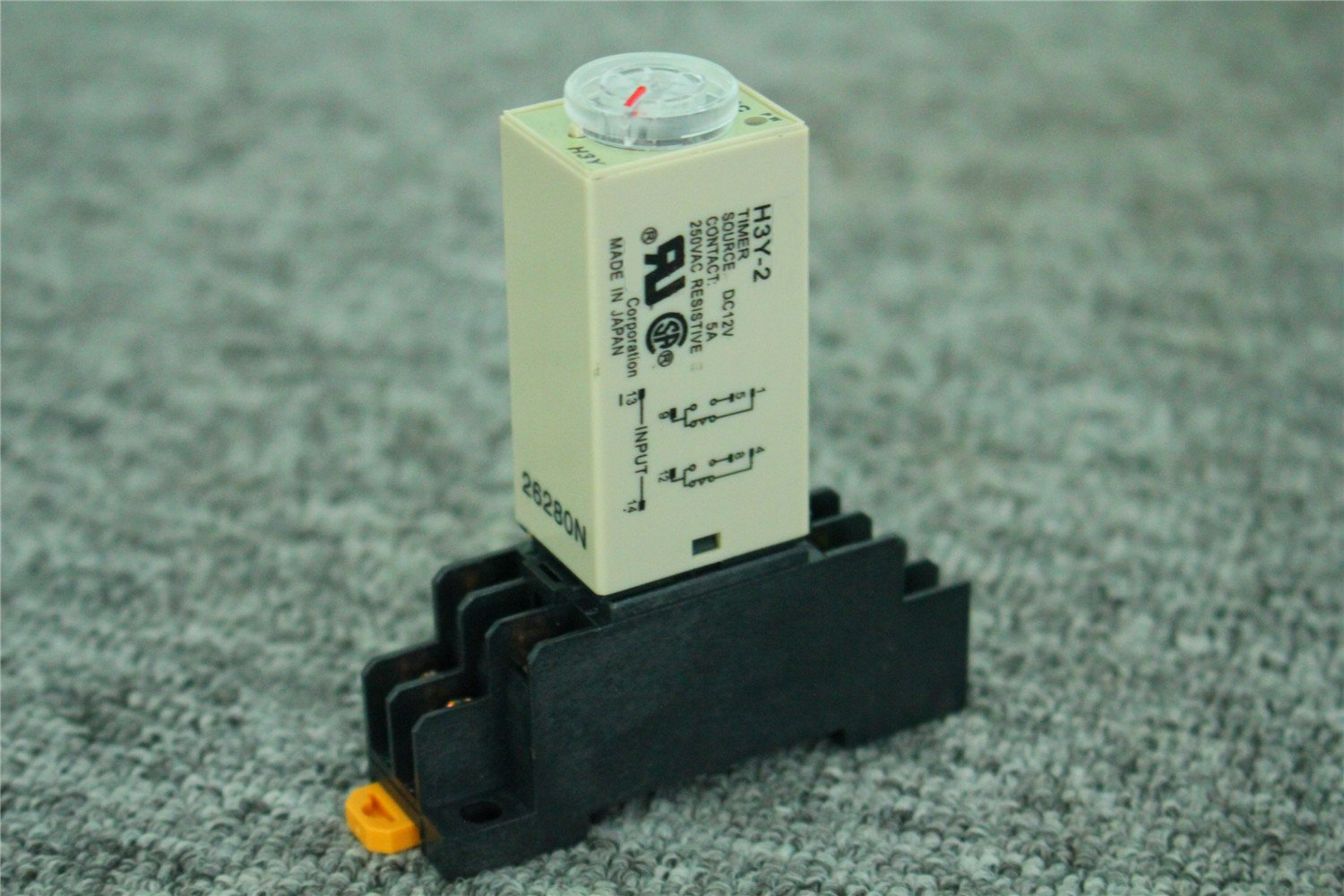DC 12V H3Y-2 Delay Timer Time Relay 0-30S Second Base Socket US Shipping Guwanji
