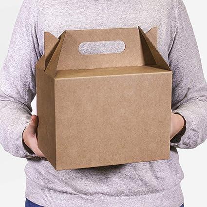 Kartox | Caja Picnic Maxi de Cartón Blanco | Caja para Fiestas - Comidas - Restaurantes | 24x16x18 | 10 Unidades: Amazon.es: Oficina y papelería