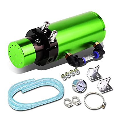 7 inches x 2.5 inches Anodized Aluminum Engine Oil Catch Tank/Can Universal (Green): Automotive