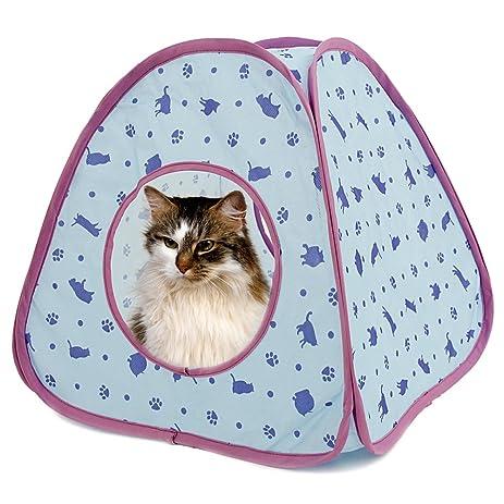 PAWZ Road Cat Tent Bed For Small and Medium Animals Blue u0026 Purple  sc 1 st  Amazon.com & Amazon.com : PAWZ Road Cat Tent Bed For Small and Medium Animals ...