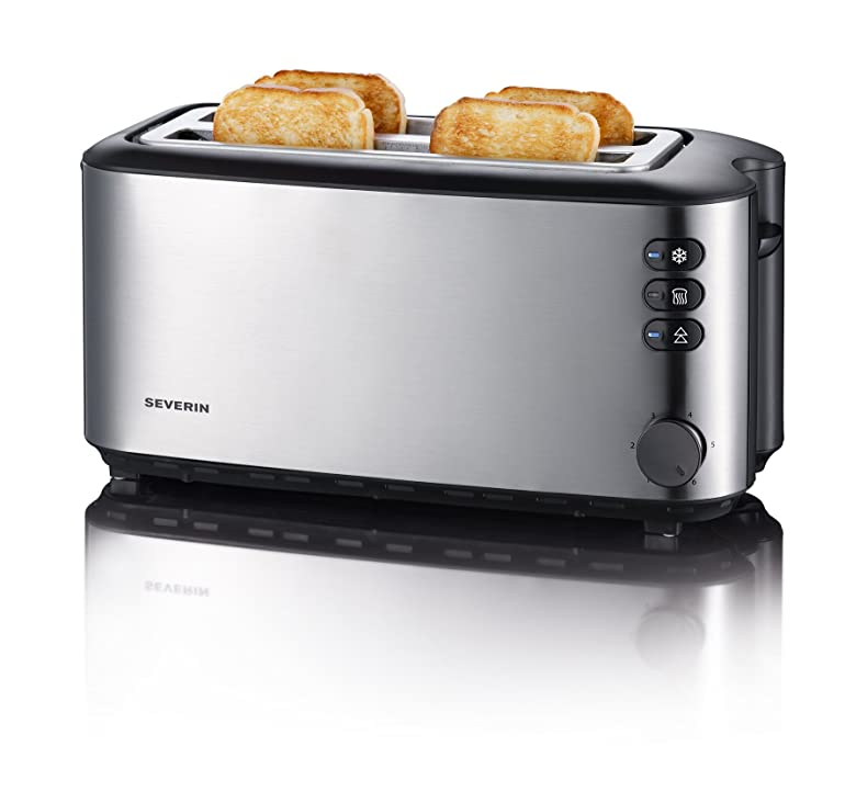 Severin Automatic Long Slot Toaster 4 Slice Brushed Stainless ...