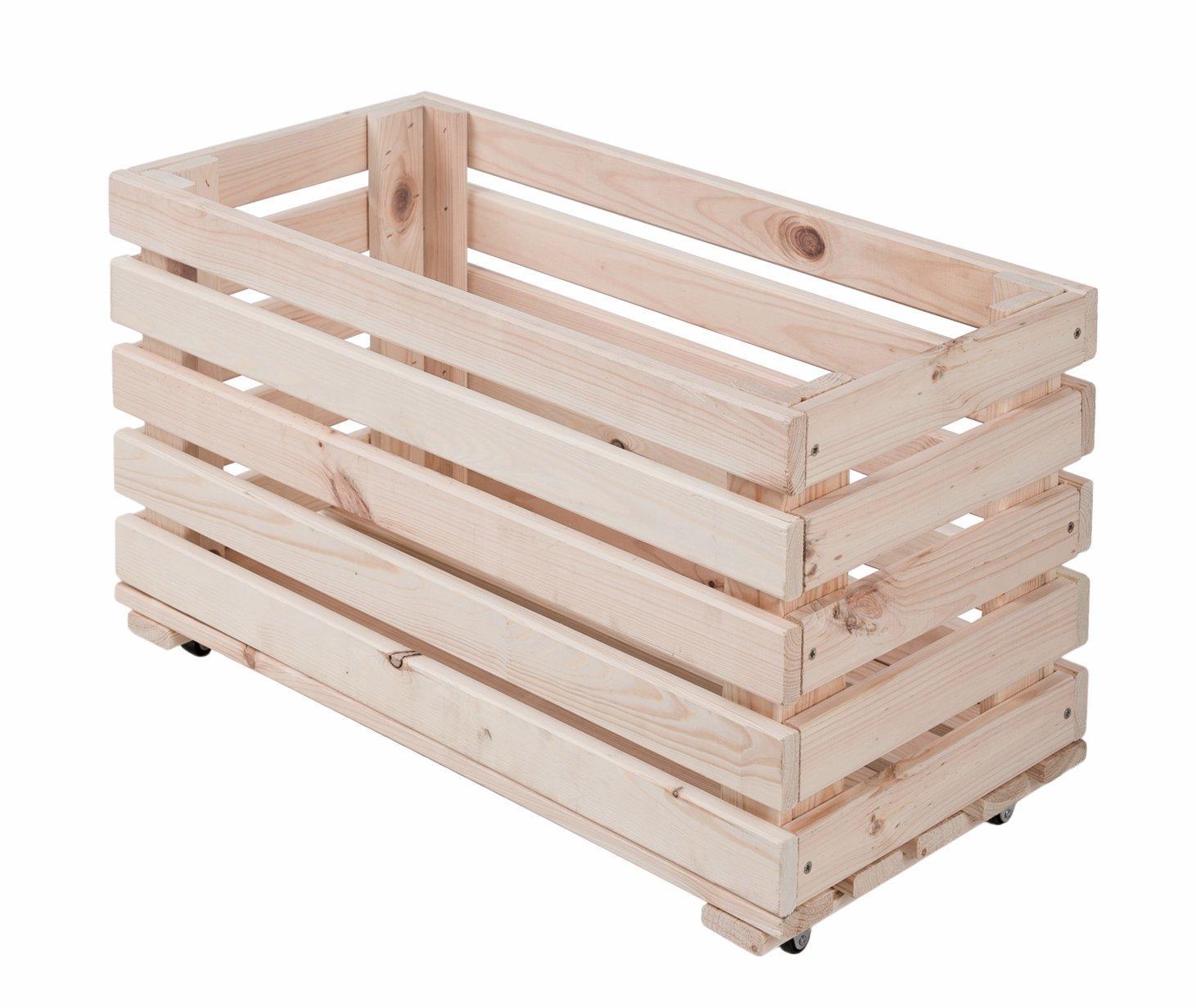 qtimber 10002029 Pickup Box auf Rollen 35x60x30cm