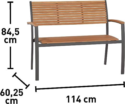 Robust Moderne Sitzbank f/ür Garten Terrasse oder Balkon Euromate GmbH Gartenbank Bonlee 3-Sitzer FSC/® 42,6 cm x 147 cm x 45 cm pflegeleicht und witterungsbest/ändig