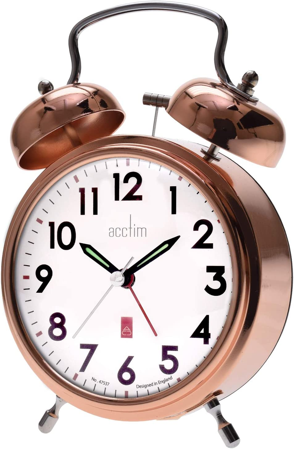 Acctim Rover Bell - Reloj despertador, color cobre