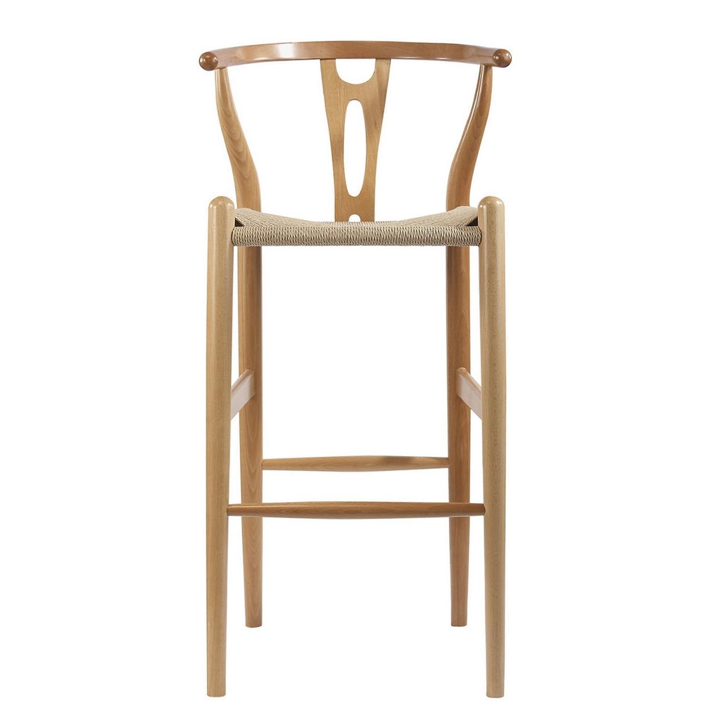 Amazon Baxton Studio Mid Century Modern Wishbone Wood Y Stool