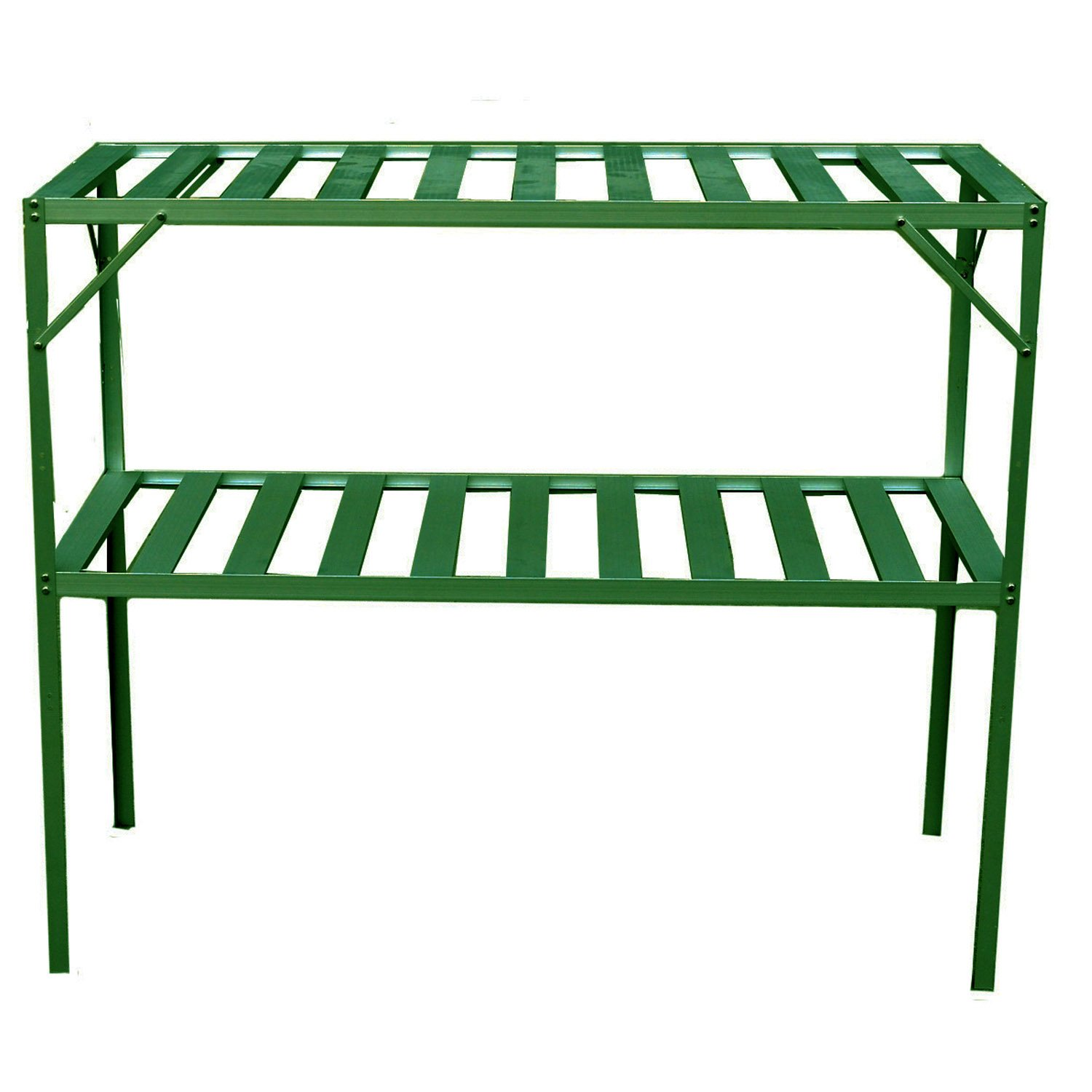 Exaco Trading  GH-GS117 Two Level Free Standing Staging Shelving for Bio-Star Greenhouses