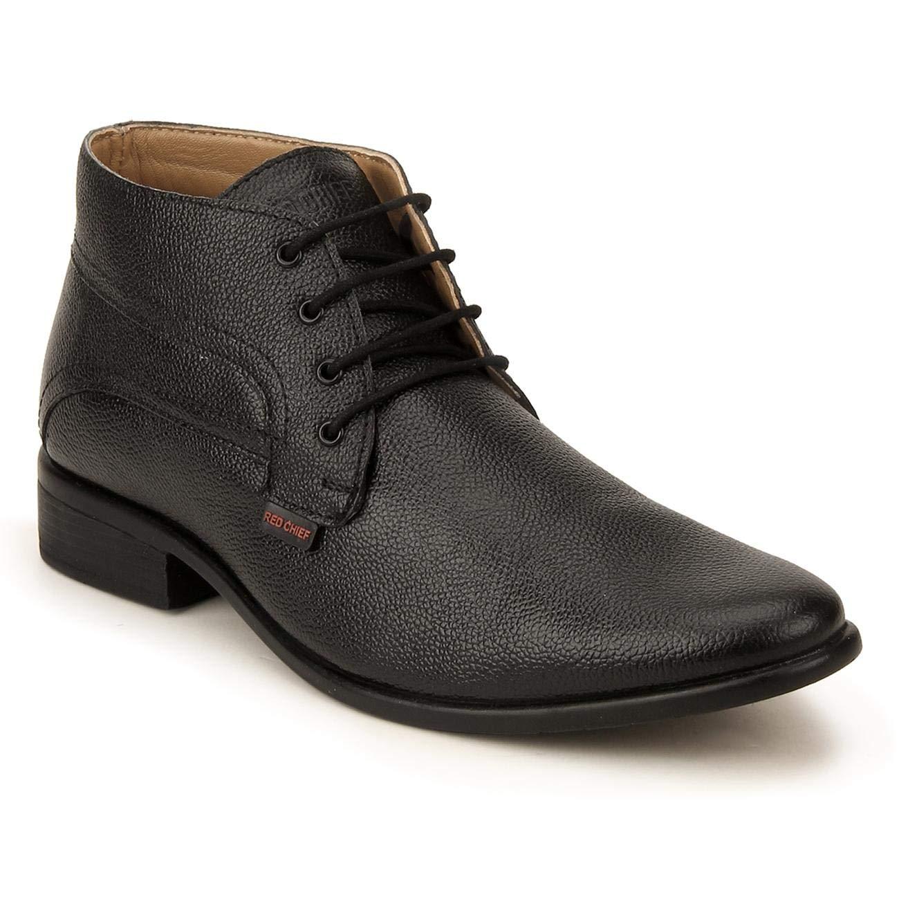 Buy Red Chief Men Black Ankle Formal