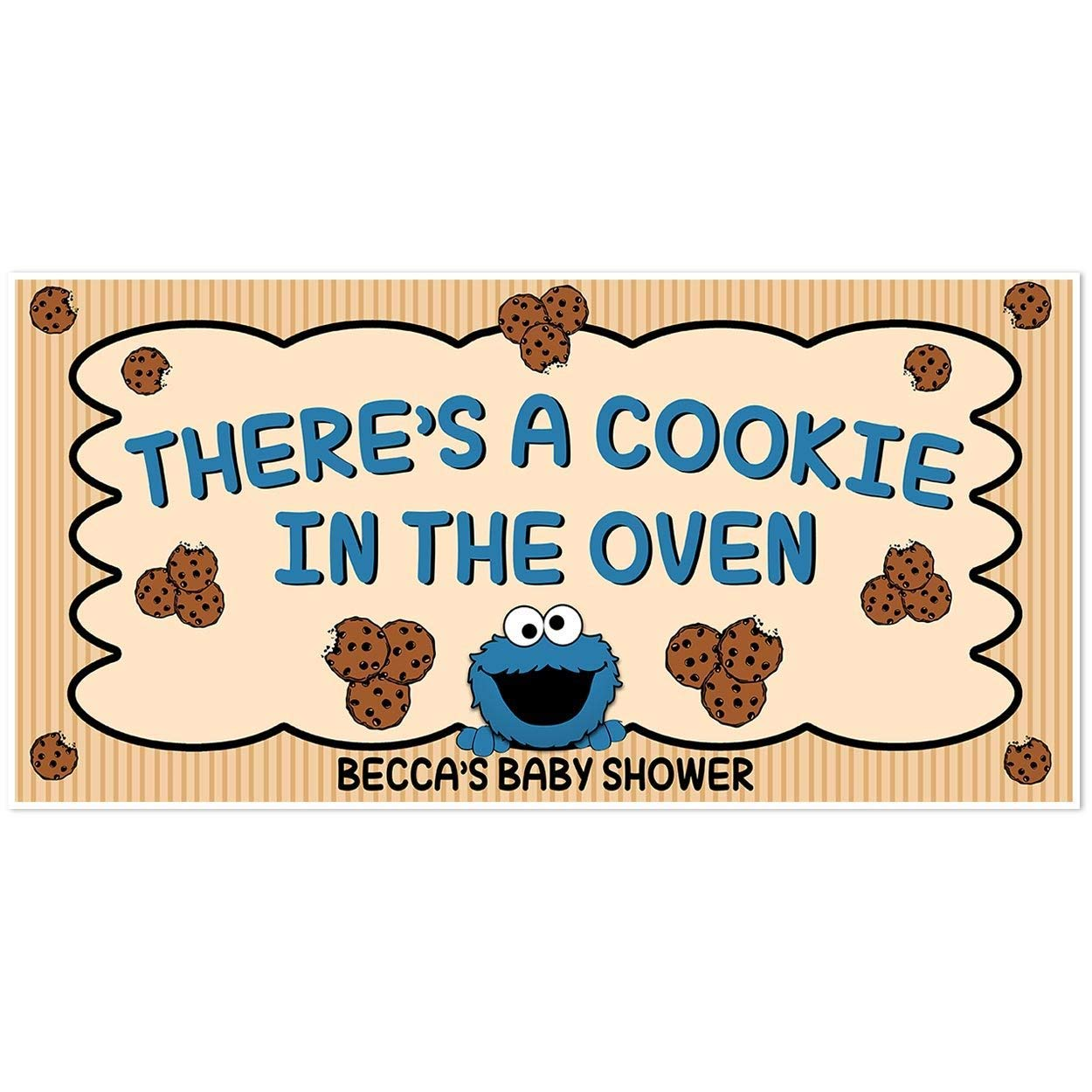 Amazon Com Cookie Monster Cookie In The Oven Baby Shower Banner Personalized Backdrop Handmade