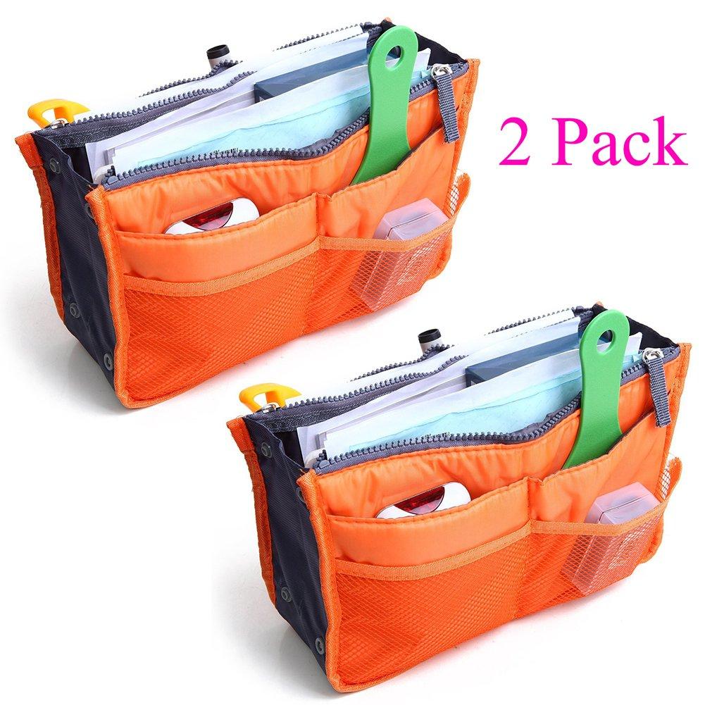 2unidades Magik viajes Insert bolso bolso grande liner Organizador ordenado bolsas extensible pack de 2unidades con asas 11*7*1 inch